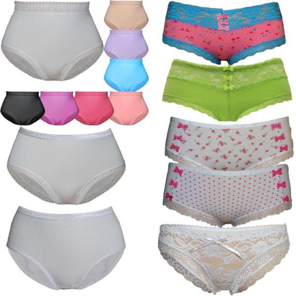 8 Stück Damen Slips Hipster Baumwolle Boxershorts Boxer Pants Unterhose