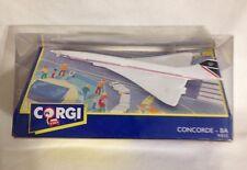 British Airways Concorde Metal Die Cast Model Plane by Corgi NEW IN BOX #91835