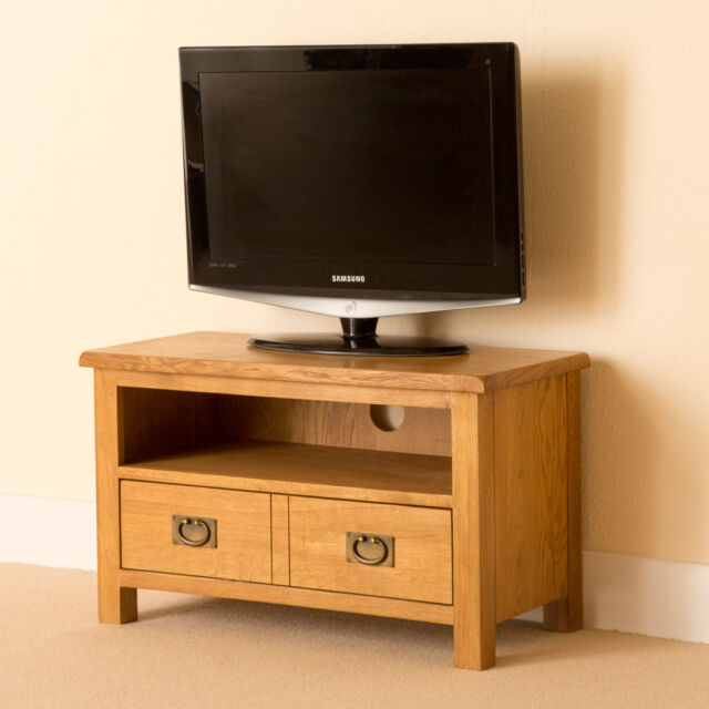 Lanner - Oak Small TV Unit / Multimedia Stand / Rustic Oak Handcrafted Cabinet