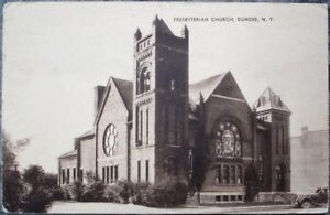 Dundee-NY-1942-Postcard-Presbyterian-Church-New-York