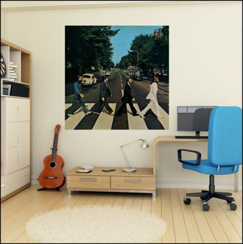 The Beatles Abbey Road Album cover photo Wall Sticker 6 sizes A4 XL 1.2m Mural