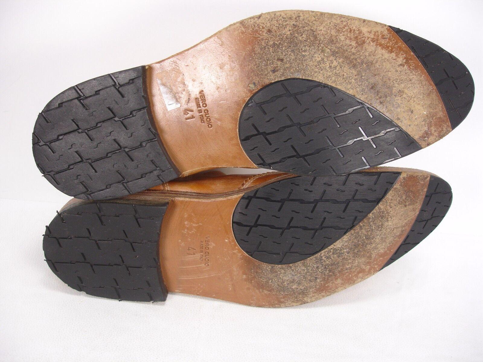 MoMA cuero Cognac envejecido cuero MoMA punta del ala Botas al tobillo Botines Zapatos para hombre 41 e2098d