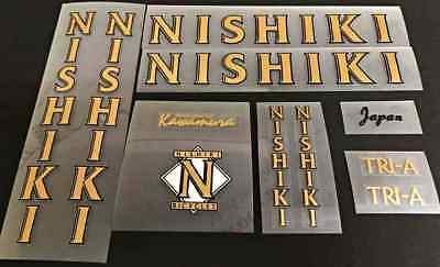 Nishiki 1989 Tri-A Bicycle Decal Set sku Nish-S110