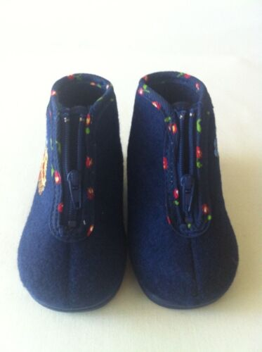 NEW! Babybotte Girls Toddler Flannel House-Booties Easy Zip-Up