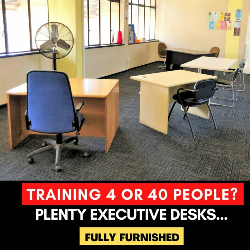 RENT AFFORDABLE TRAINING SPACE JHB CBD- *EQUIPPED FULLY *MODERN * COVID FRIENDLY