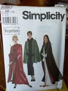 Oop-Simplicity-Begotten-8987-misses-cape-lined-hood-mandarin-collar-sz-18-24-NEW