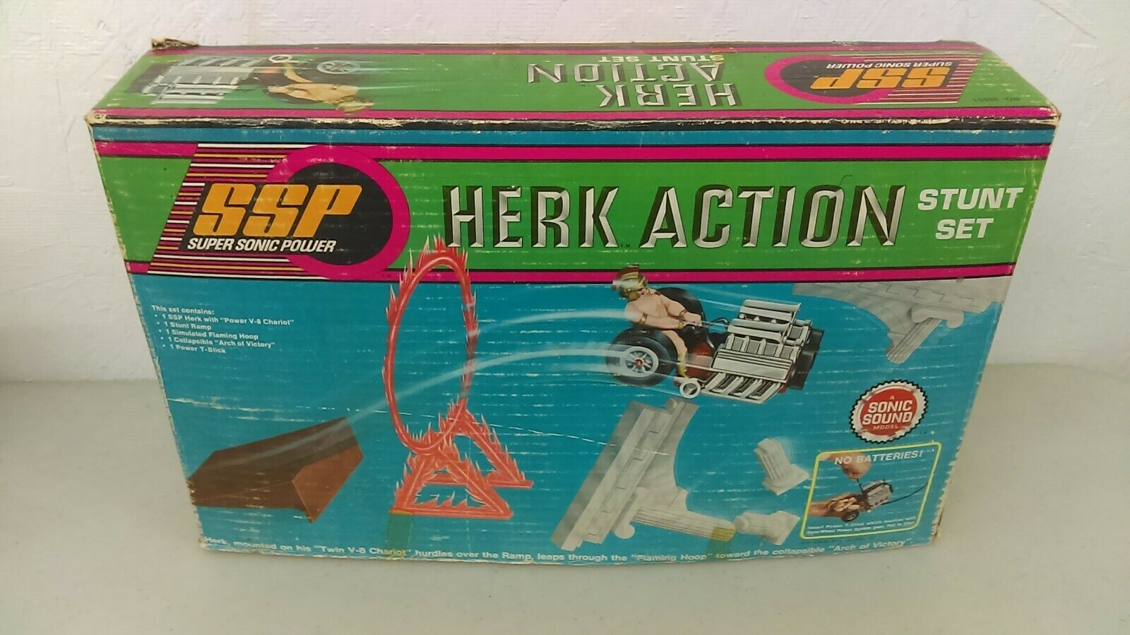 1972 Kenner SSP Herk Action Stunt Set MIB NRFB New Old Stock Never Played With
