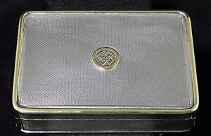 BOITE-EN-ARGENT-THEODORE-B-STARR-116-GRAMMES-SURMONTE-D-OR-19-EME-C905
