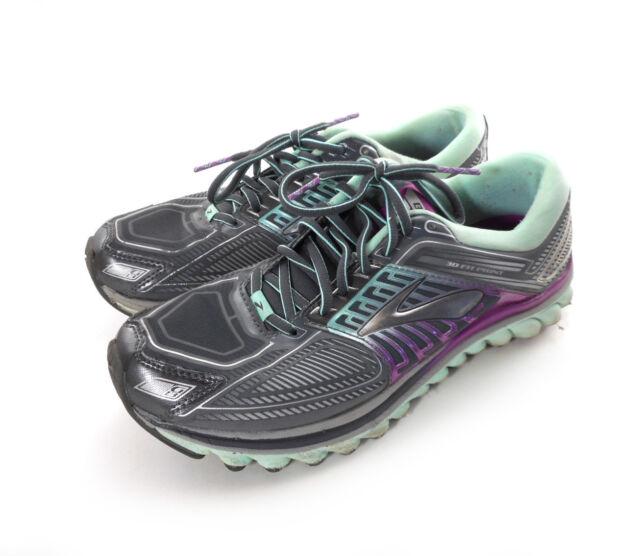 89cb0fcaadc Brooks Running Shoes Womens Sz 9.5 Medium B Glycerin G13 Gray Mint Green  Purple