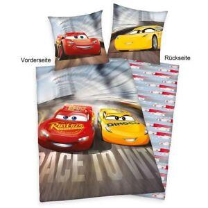 disney cars 3 biber flanell wende bettw sche set 135x200 80x80cm 4629235050 ebay