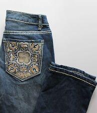 NWT Nine West Vintage America Vintage Straight Embroidered Pocket Jeans Size 2
