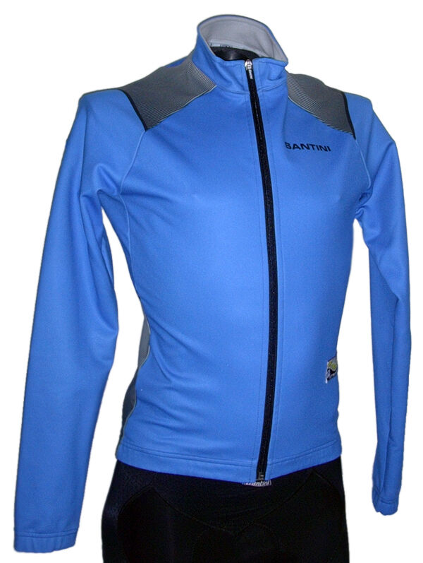 Winddichte K2 Thermal CYCLING JACKET in BLUE - Made in Italy Von Santini