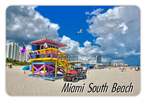 "Florida miami sount beach  Travel Souvenir Photo Fridge Magnet 3.5/""X2.4/"""
