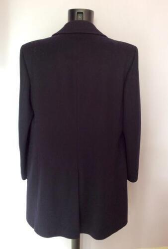 pura Spencer 44 in Marks di nuovo nero Cappotto doppiopetto doppiopetto taglia lana nzwxqPw