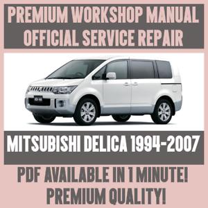 workshop manual service repair guide for mitsubishi delica 1994 rh ebay com mitsubishi delica service manual free download mitsubishi delica workshop manual free