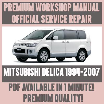 *WORKSHOP MANUAL SERVICE /& REPAIR GUIDE for MITSUBISHI DELICA 1994-2007