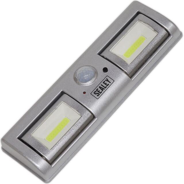 Sealey 1.2W Cob LED Automatique Léger Pir Capteur 120 Lumens Abri Jardin Maison