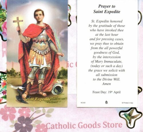 Expedite with Prayer to ST expedite Paperstock Holy Card Saint St