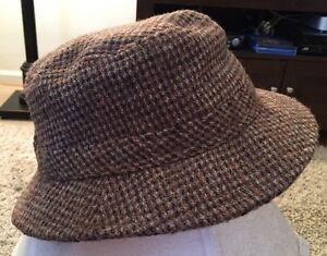 af4e8ba78 Details about LL Bean Harris Tweed Hand Woven 100% Scottish Wool Gore-tex  Hat, Size Small