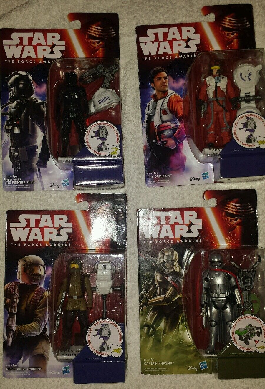 4x Star Wars Force Awakens Figures Captain Phasma Poe Poe Poe Dameron New & Sealed 3d4a55