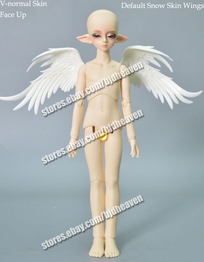 1 4 muñeca de fantasía cabeza de Boy Bory Elfo + pelucas de fantasía libre de ojos Rostro Maquillaje
