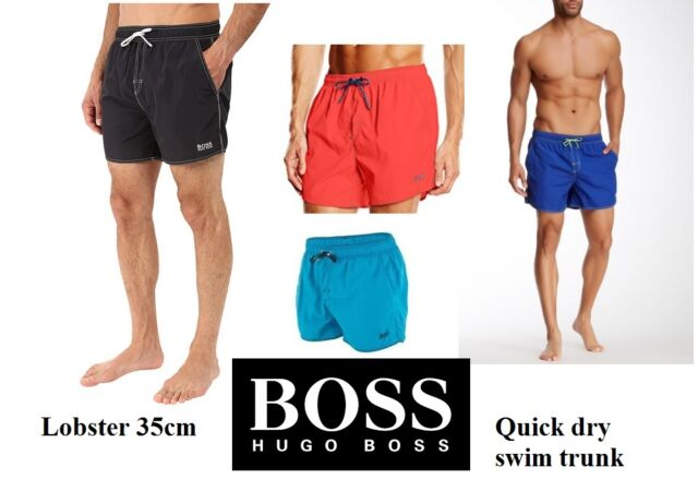 b4df896f1d438 HUGO BOSS Men's Lobster 35cm BM swim shorts trunk Quick Dry Med Lg or XL,