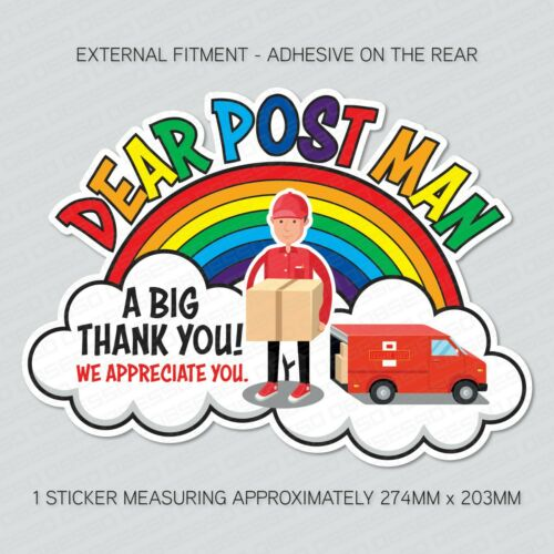Key Workers Rainbow Delivery Workers Thank You Post Man Postie Sticker