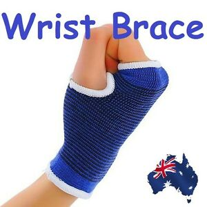 Blue-Elastic-Sports-Wrist-Hand-Brace-Protector-Support-Wrap-Single-Warmer-Band