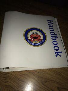Vtg-90s-Sesame-Street-Children-PEP-Handbook-Binder-Second-Edition-Elmo-Cover
