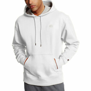 Buy Champion Men s PowerBlend Fleece Pullover Hoodie S0889 XL White ... 0d5809fec