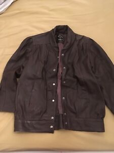 63c51f5cf Details about Genuine Vintage 1980s Brooke Saddler Brown Leather Ladies  Blouson Jacket M/L