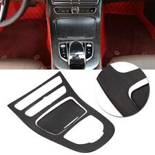 Oak Wood 2Pcs Car Gear Shift Panel Cover Console Gear Shift Panel Cover Trim for Benz E-Class W213 16-18