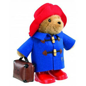 NEW PLUSH SOFT TOY Paddington Bear With Boots Embroidered Jacket & Suitcase 34cm