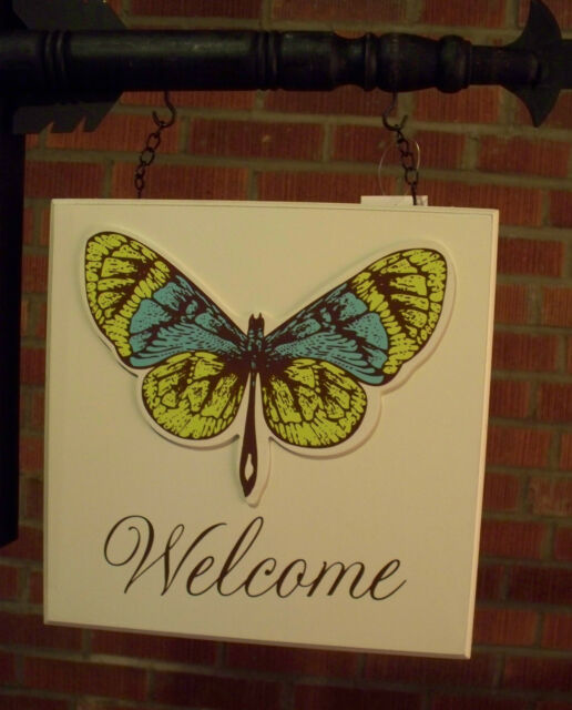 """""""WELCOME SIGN with BUTTERFLY"""" Replacement Sign - Sign for Country Arrow Holders"""