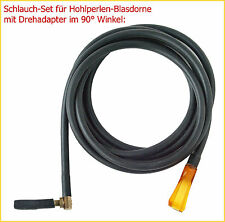 """Schlauch-Set mit Drehadapter """"HQ 90°"""" f. Hohlperlen-Blasdorne 2, 3 u. 5mm"""