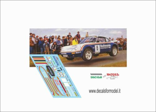 DECALS 1//43 PORSCHE 911 ROTHMANS TOIVONEN RALLY YPRES 1984