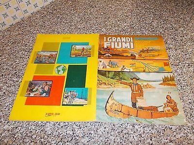 SCEGLIETE I NUMERI DALLA LISTA . FIGURINE ALBUM DELL/'ARTE 1967 I GRANDI FIUMI
