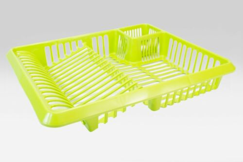 Large Plastic Dish Drainer-Plate and Rack Holder-Kitchen-Lime Green