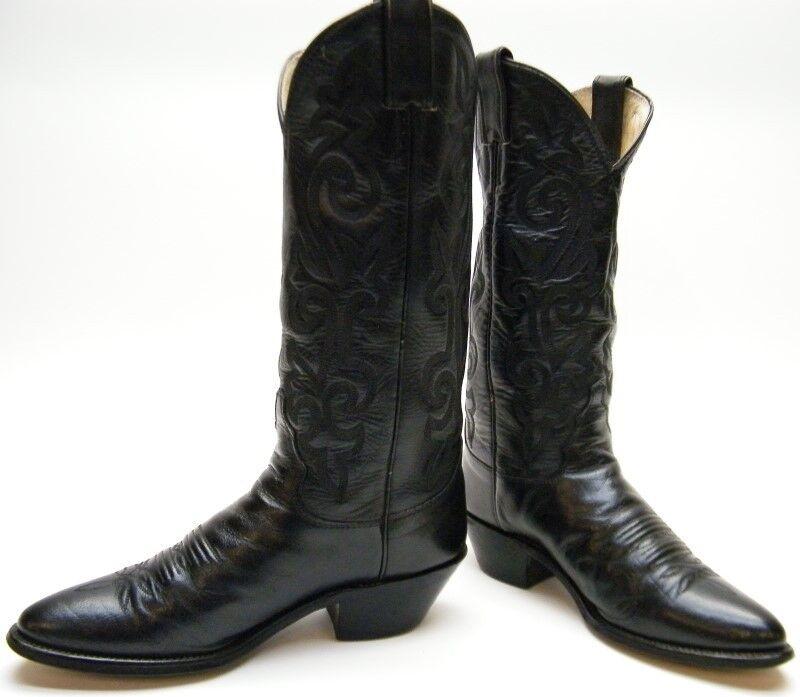 Mujeres de de de cuero negro de Justin 4911 London pantorrilla botas de vaquero occidental Talla 6.5  1 2 B  hasta un 60% de descuento
