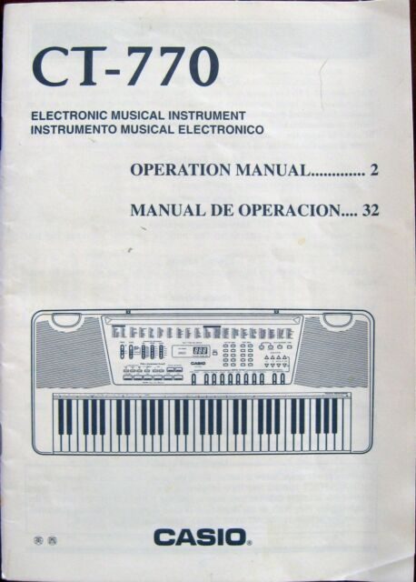 casio ctk 515 electronic keyboard original users guide owners manual rh ebay com casio keyboard user guide casio keyboard instruction manual
