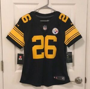 separation shoes e7953 b2bda Details about Nike LeVeon Bell Limited Color Rush Jersey Pittsburgh  Steelers Women's Medium