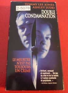 Rare-VHS-French-Movie-Double-Condamnation-Double-Jeopardy-Tommy-Lee-Jones