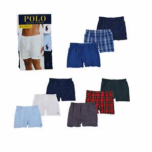 Polo-Ralph-Lauren-Boxers-Hommes-Coupe-Classique-Tisse-3-Paquet-Neuf-Nwt-Trois