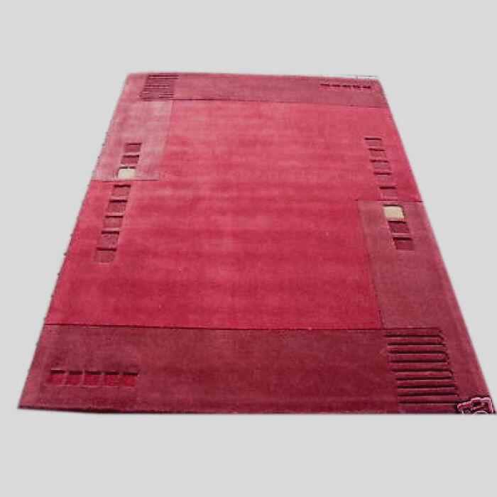 Design Design Design moderne rouge marron plain frontière épais tapis 120x180 cm | Se Vendant Bien Partout Dans Le Monde  3921d6