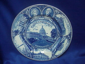 The-Washington-Plate-in-Old-English-Staffordshire-Ware-Made-in-ENGLAND