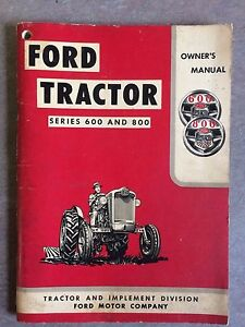 ford 800 tractor manual