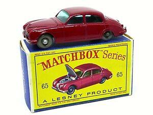 Matchbox-Lesney-No-65b-Jaguar-Sedan-3-8-litro-en-caja-de-la-serie-D2-039-tipo-039