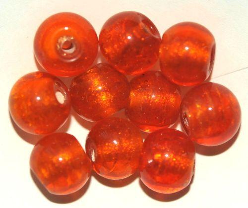 10 lámina abalorios 10 mm Orange Ah4-02