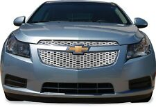 FITS CHEVY CRUZE 2011-2012 CHROME ABS PLASTIC TOP GRILLE OVERLAY INSERT 2PCS