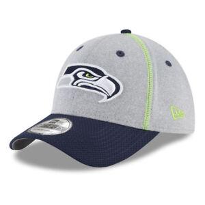 63362e8e3 Seattle Seahawks New Era NFL Gray Stitch 39THIRTY 2-Tone Football ...